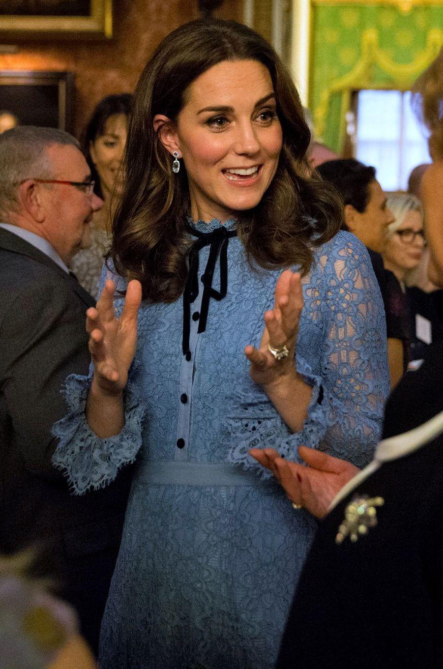 La duchesse Catherine de Cambridge à Londres, le 10 octobre 2017