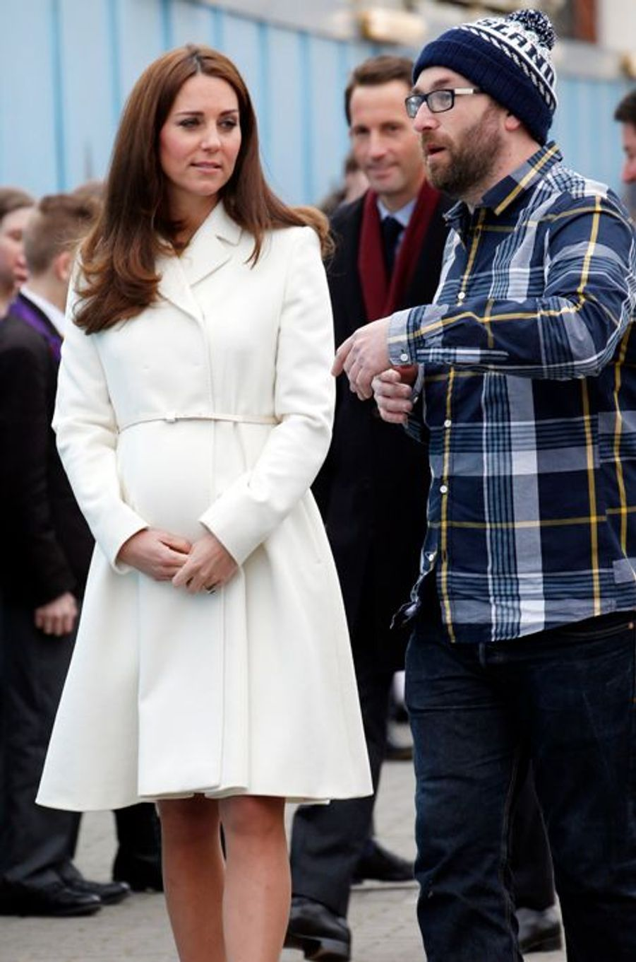 Kate ex-Middleton avec l'artiste urbain My Dog Sigh à Portsmouth, le 12 février 2015