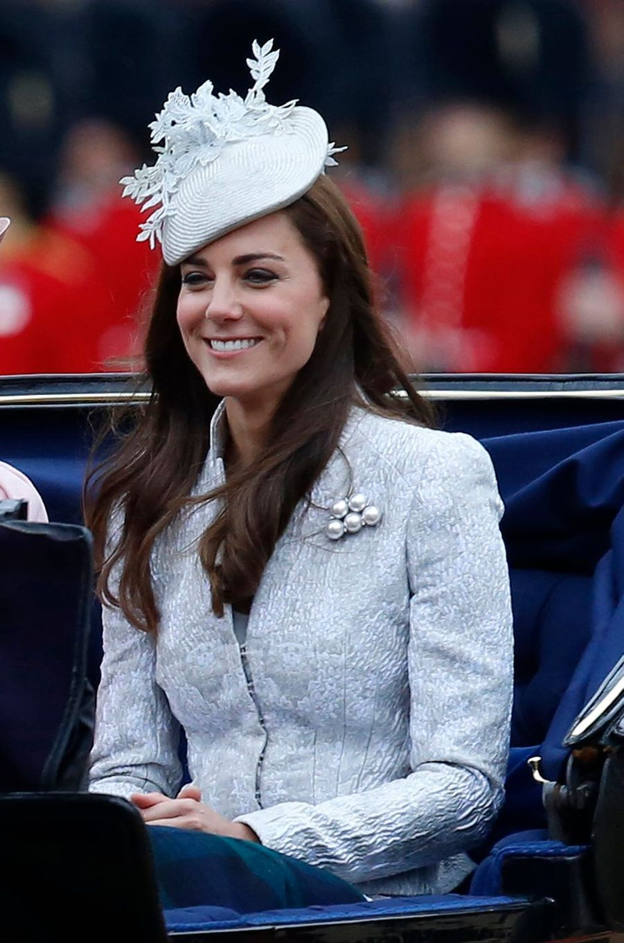La duchesse Catherine de Cambridge à la cérémonie Trooping the Colour à Londres le 14 juin 2014