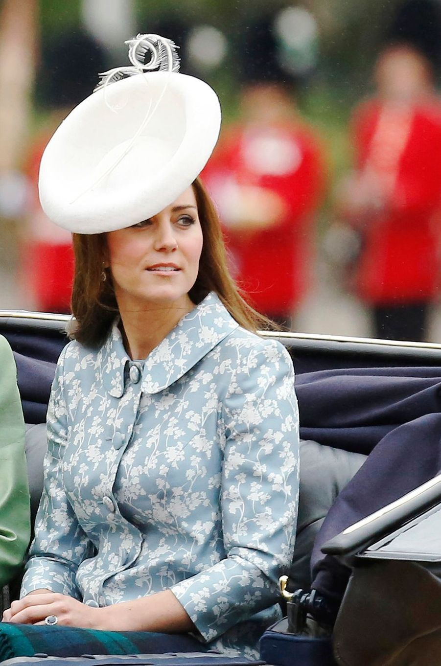 La duchesse Catherine de Cambridge à la cérémonie Trooping the Colour à Londres le 13 juin 2015