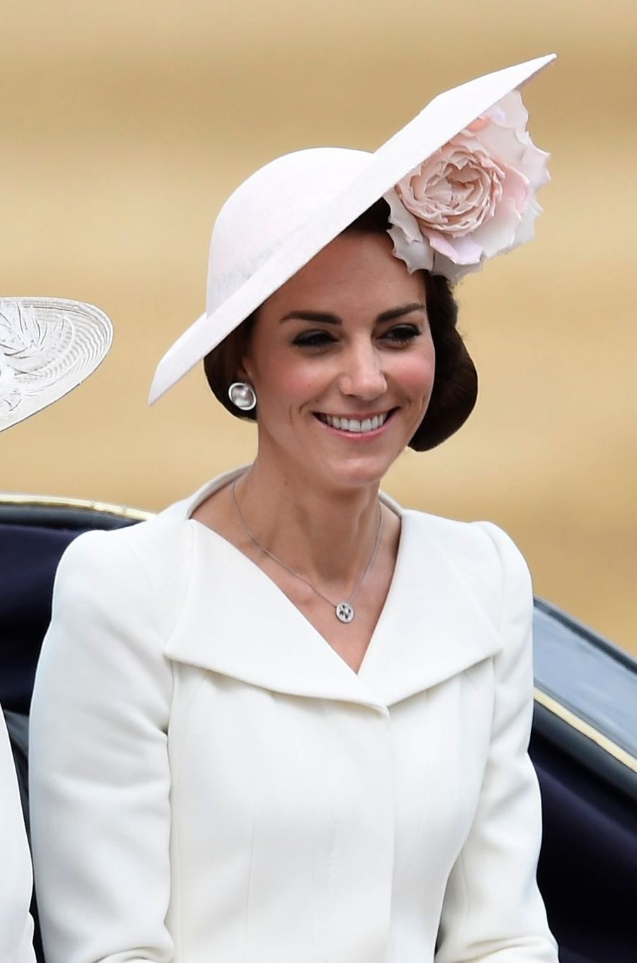 La duchesse Catherine de Cambridge à la cérémonie Trooping the Colour à Londres le 11 juin 2016