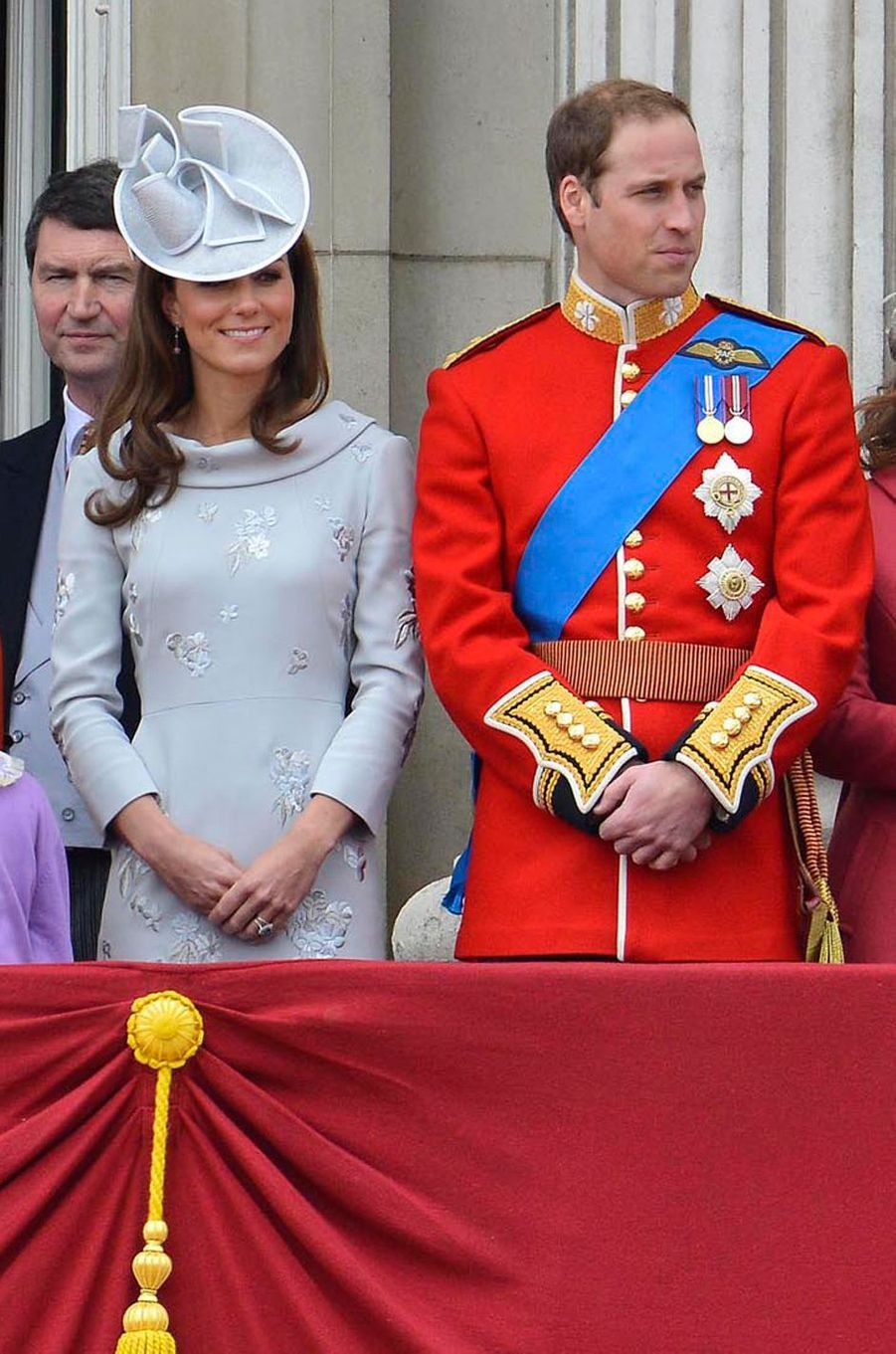 La duchesse Catherine de Cambridge à la cérémonie Trooping the Colour à Londres le 16 juin 2012