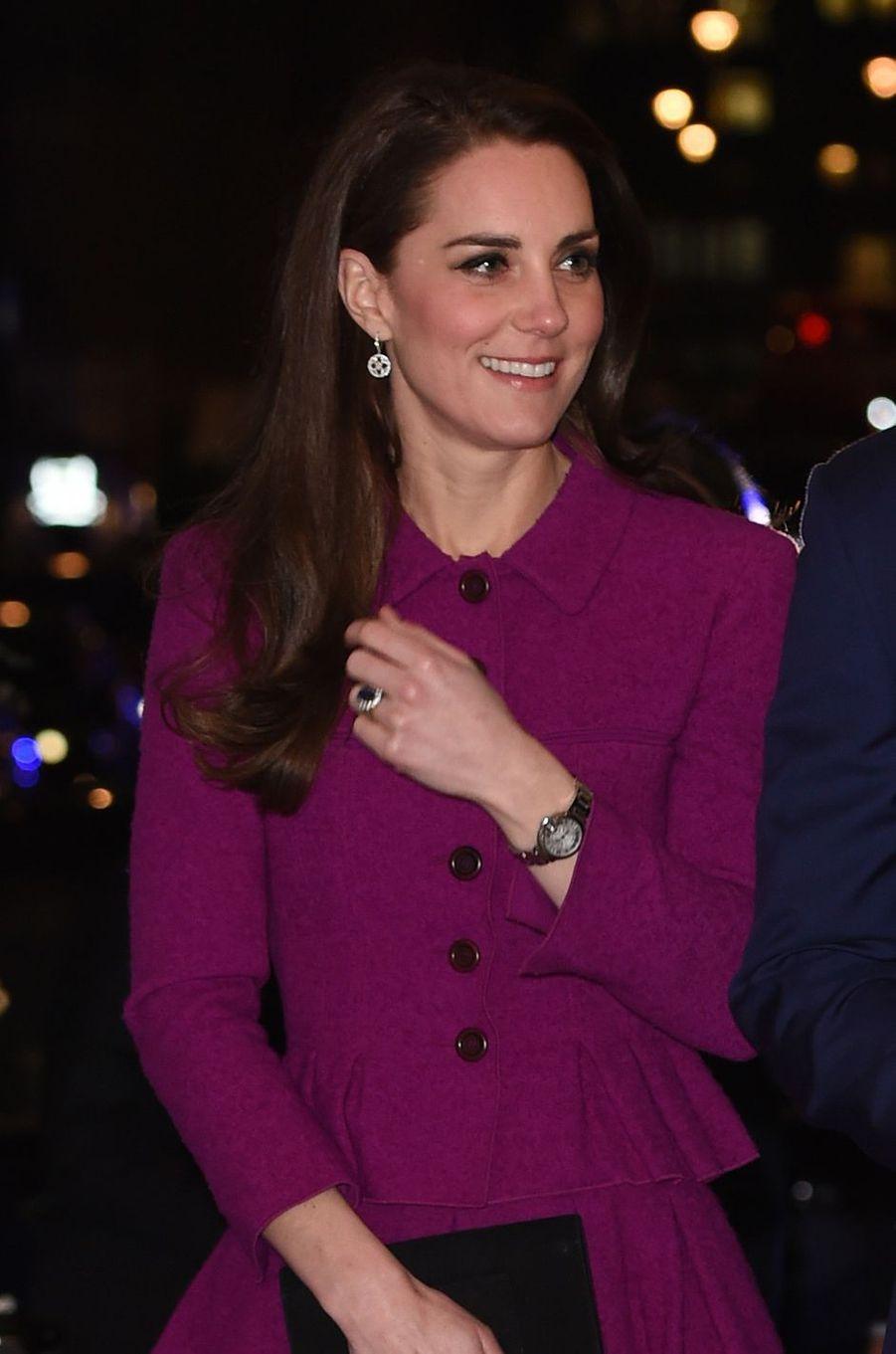 La duchesse de Cambridge, née Kate Middleton, à Londres, le 6 février 2017