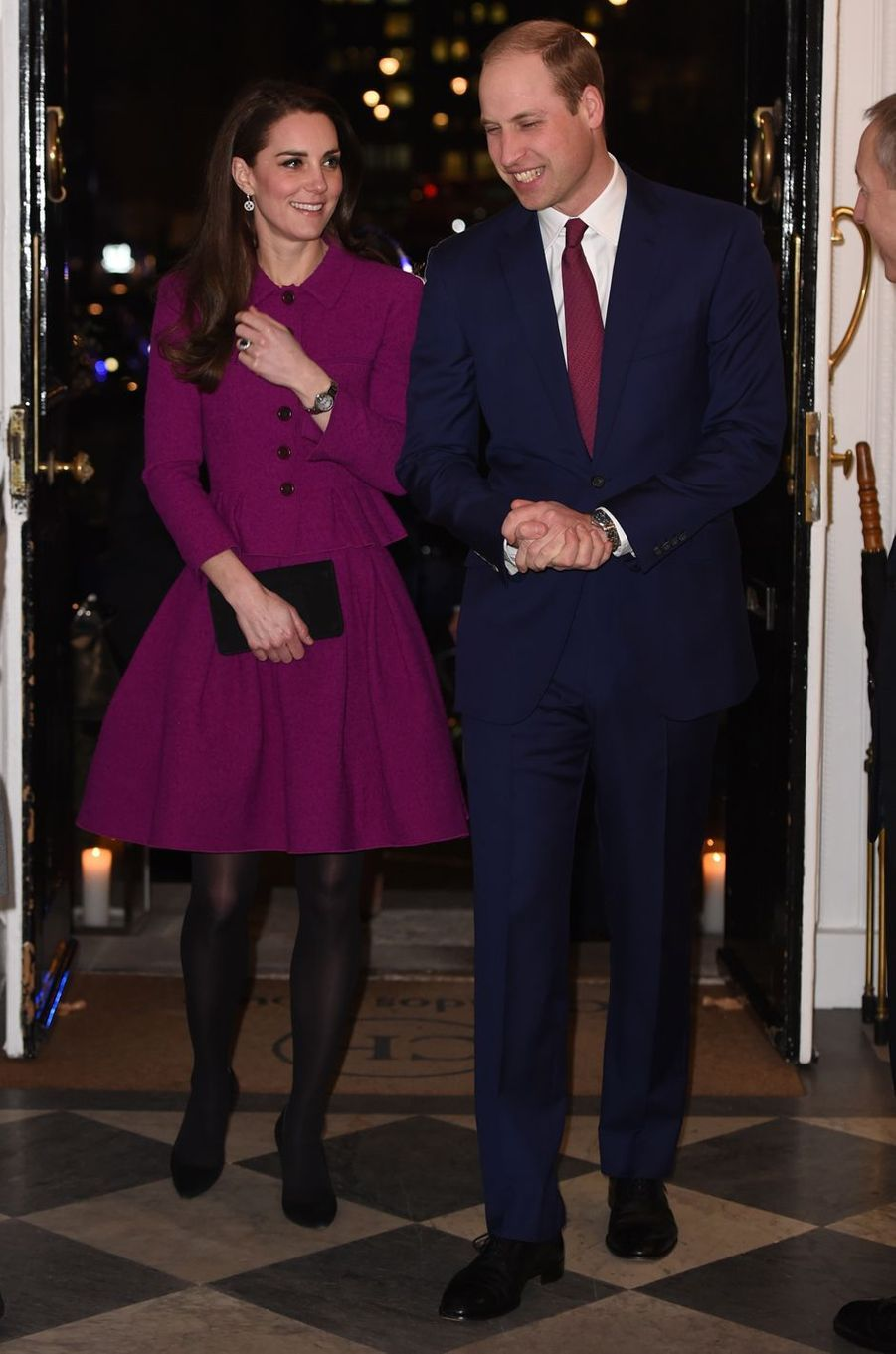 La duchesse de Cambridge, née Kate Middleton, avec le prince William à Londres, le 6 février 2017