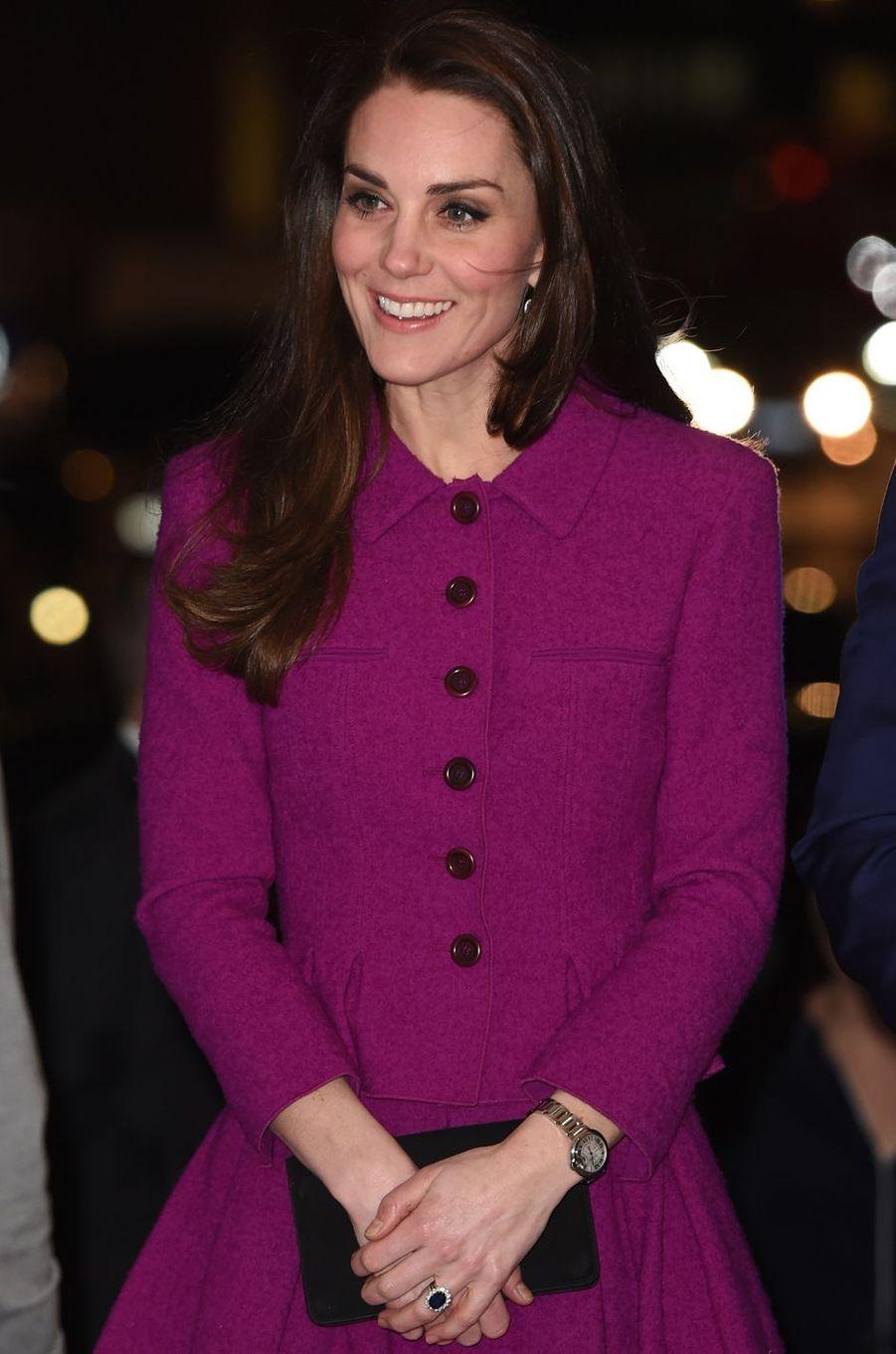 La duchesse de Cambridge à Londres, le 6 février 2017