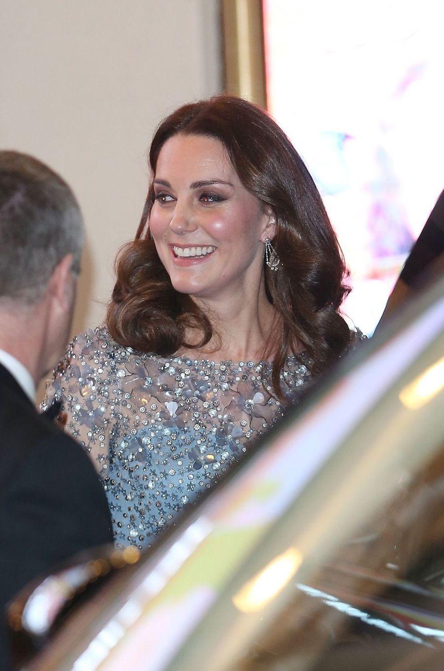 La duchesse Catherine de Cambridge à Londres, le 24 novembre 2017
