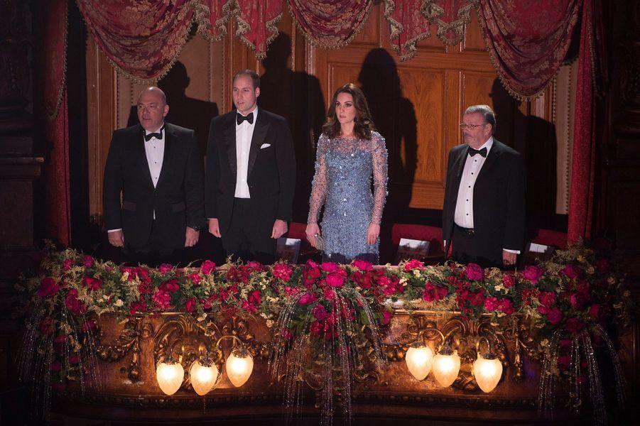 La duchesse Catherine de Cambridge et le prince William à Londres le 24 novembre 2017