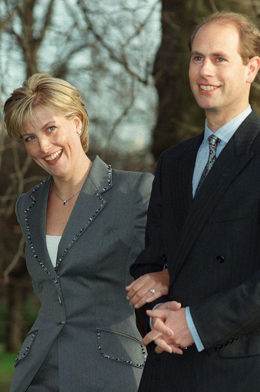 Diamants pour Sophie Rhys-Jones, fiancée au prince Edward en 1999