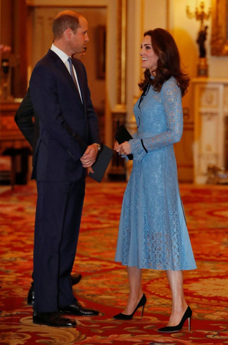 La duchesse de Cambridge en compagnie du prince William.
