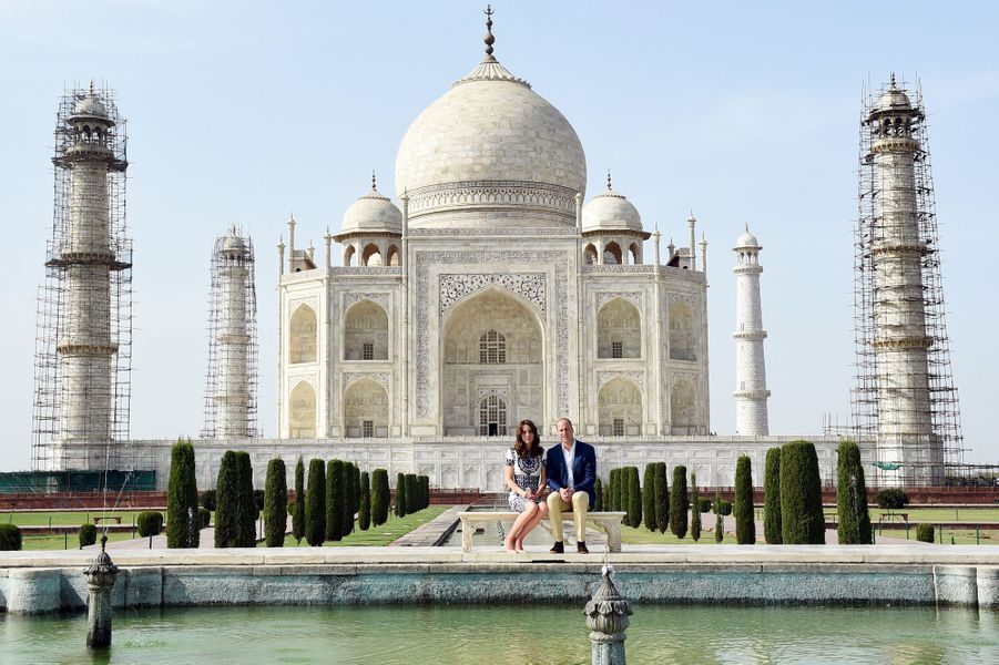Kate et William au Taj Mahal en Inde, le 16 avril 2016