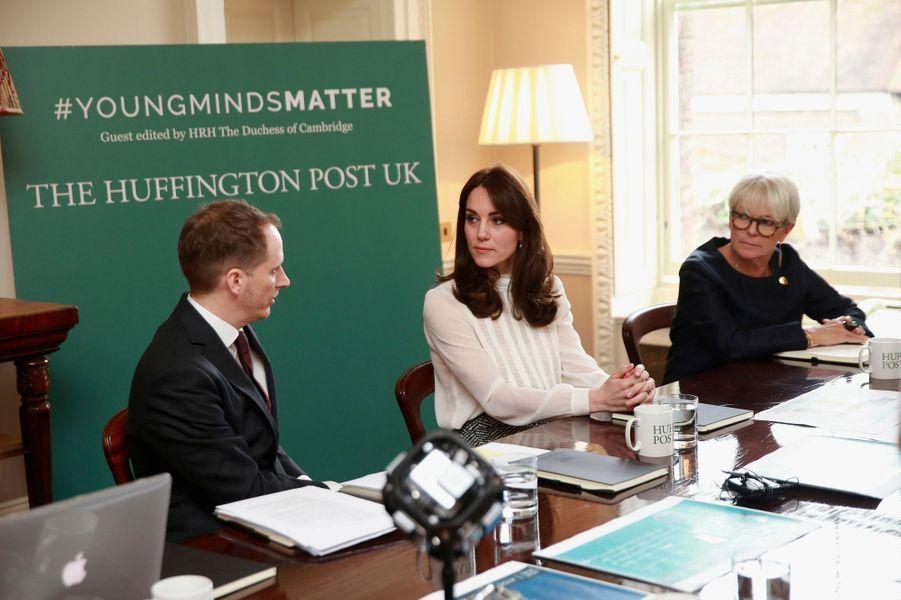 Kate rédactrice en chef d'un jour du Huffington Poste, le 17 février 2016