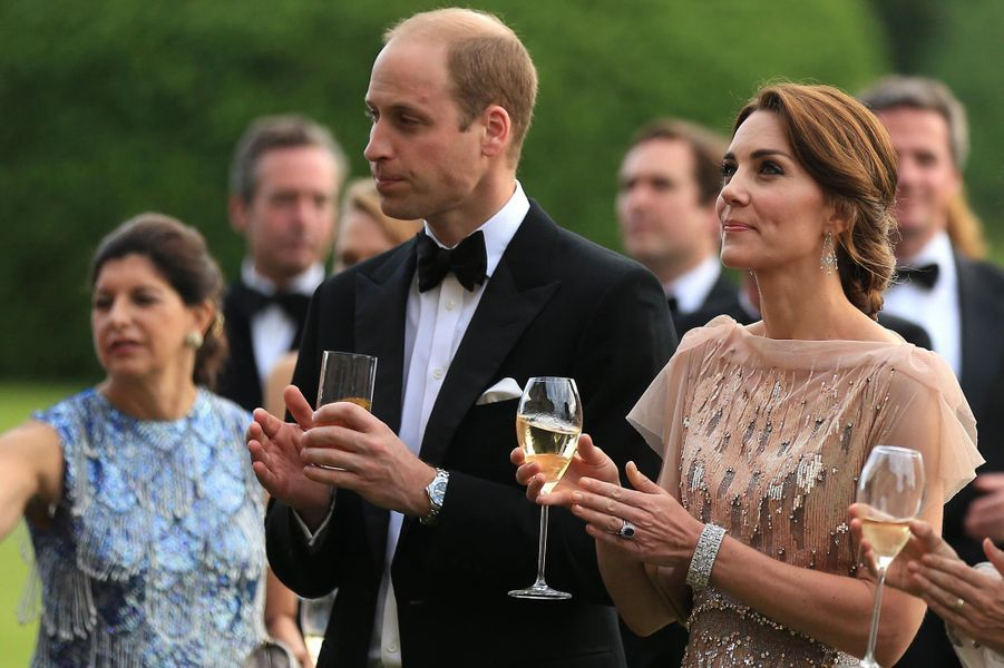 Kate avec William lors de son premier gala de charité, le 22 juin 2016