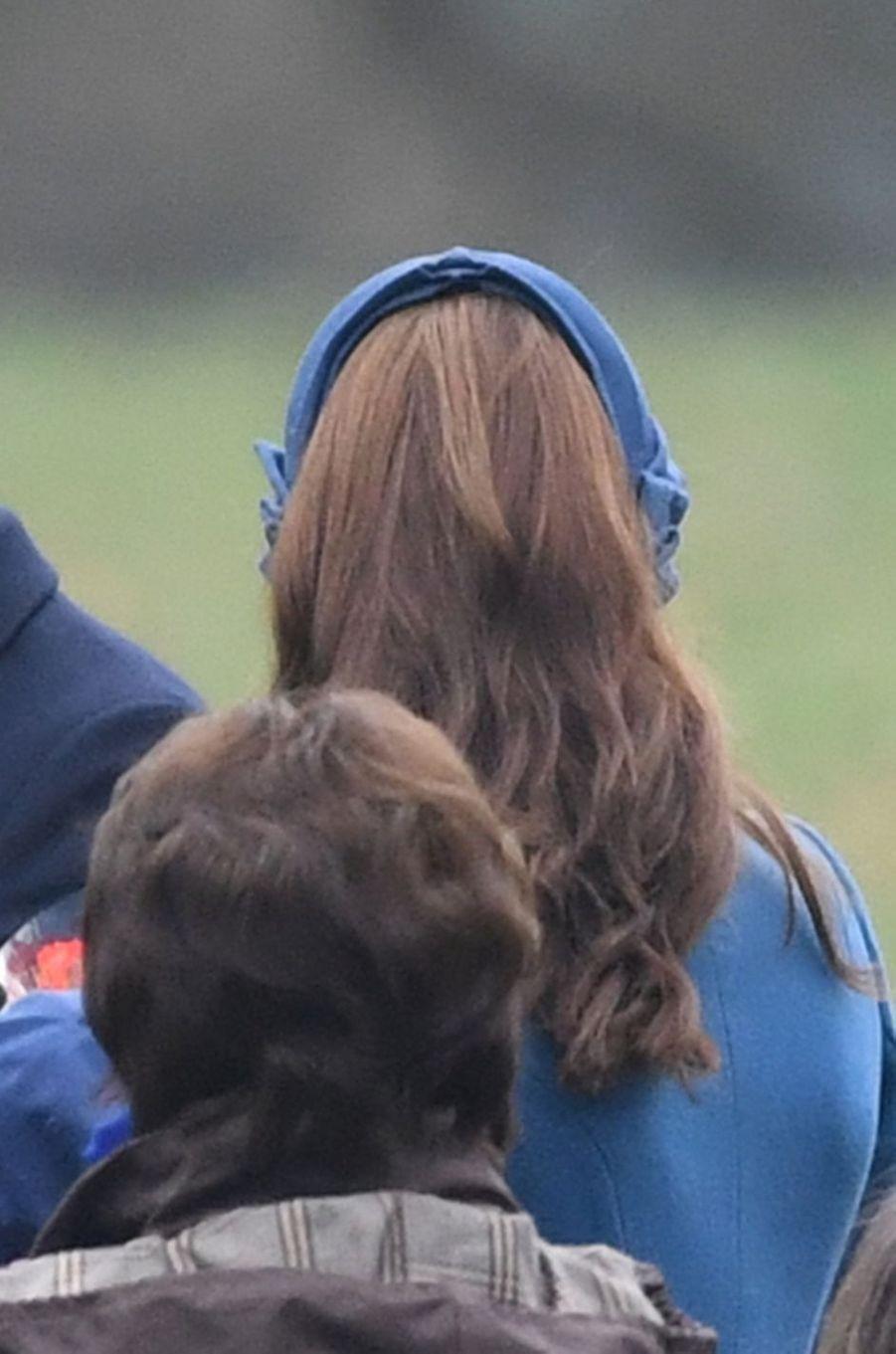 Kate Middleton, duchesse de Cambridge, de dos, à Sandringham le 6 janvier 2019