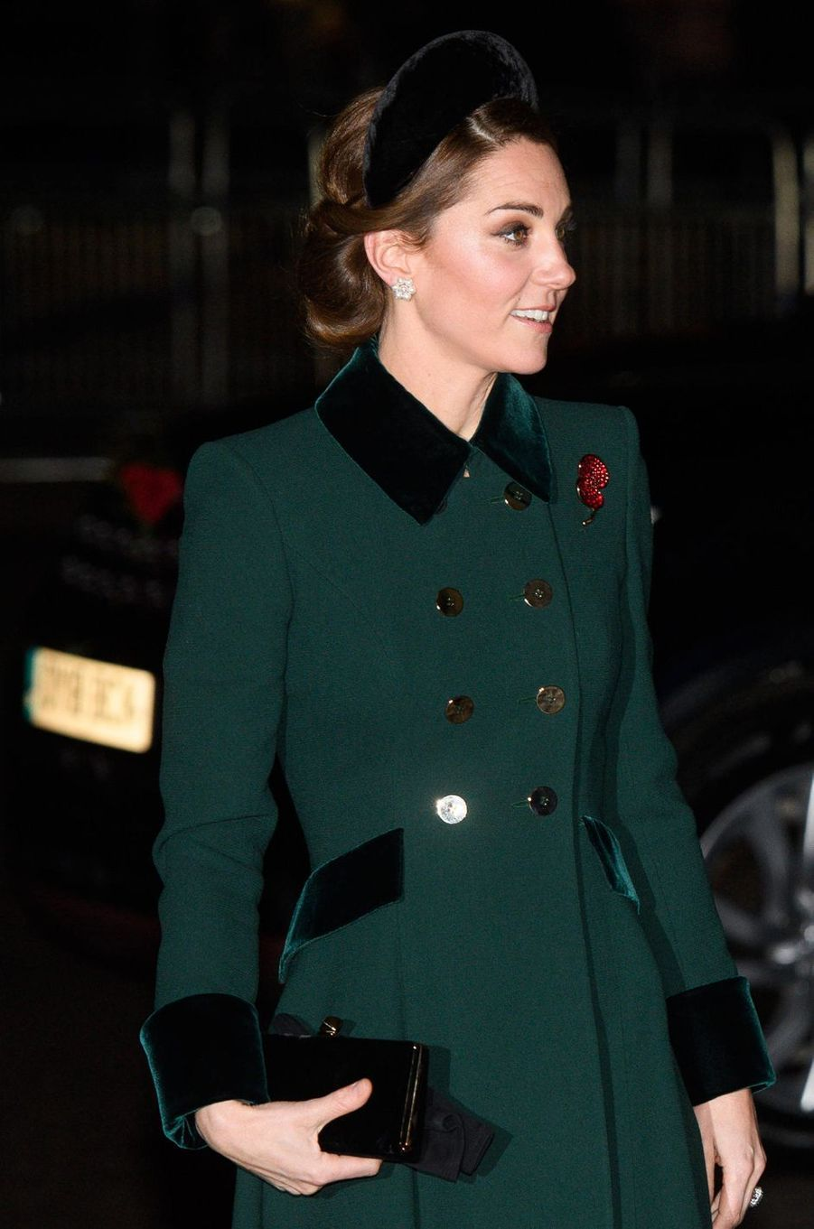 Kate Middleton, duchesse de Cambridge, à Londres le 11 novembre 2018