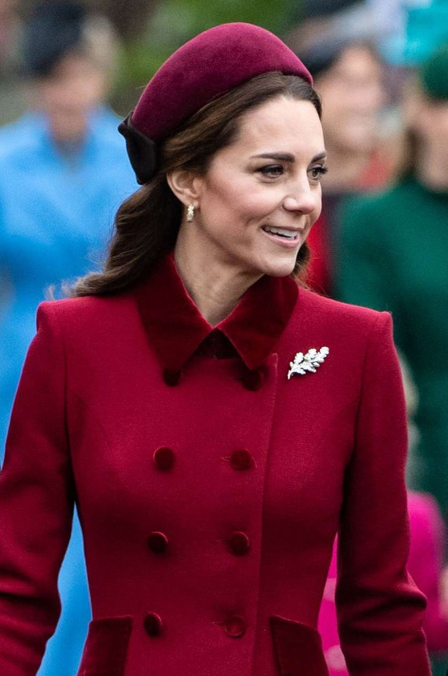 Kate Middleton, duchesse de Cambridge, à Sandringham le 25 décembre 2018