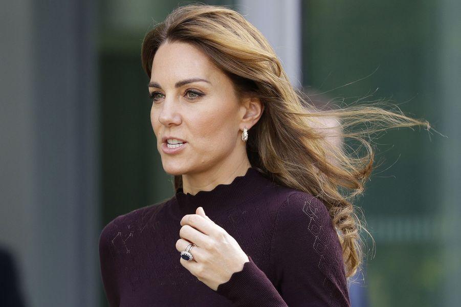 Kate Middleton en visite au musée d'histoire naturelle de Londres le 9 octobre 2019