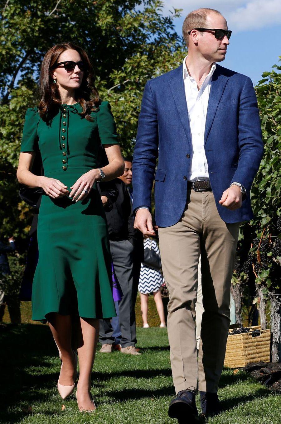 Kate Middleton le 27 septembre 2016 dans une robe Dolce & Gabbana à 2 000 livres