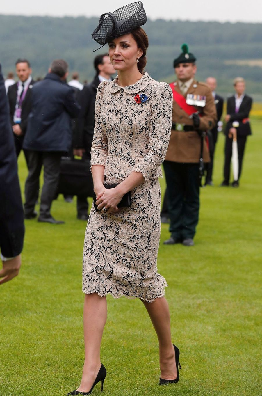 Kate Middleton le 1er juillet 2016 dans une robe Sophie Hallette/Dolce & Gabbana estimée à 3 000 livres
