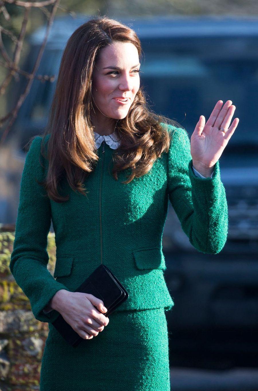 Kate Middleton À Quidenham Le 24 Janvier 2017 4