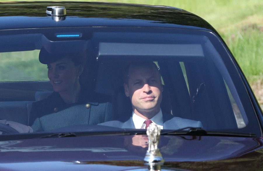 Kate Middleton et le prince William à Crathie Kirk le 25 août 2019