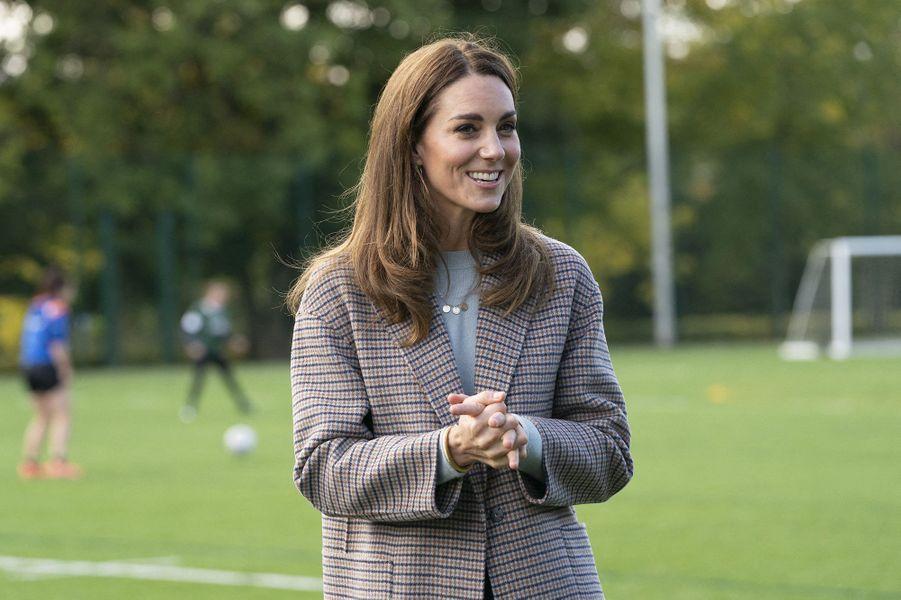 Kate Middletonà la rencontre des étudiants de l'université de Derby le 6 octobre 2020