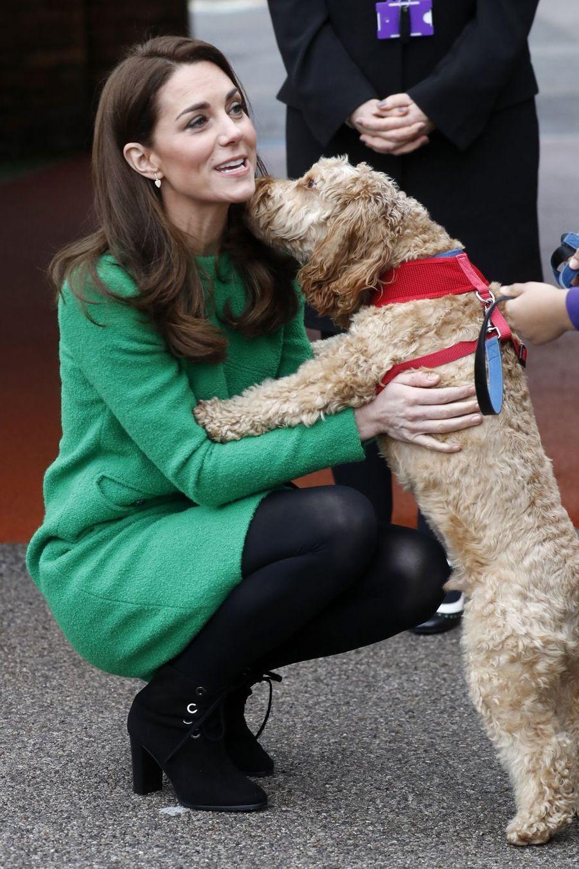 Kate Middleton lors d'une visite à l'école primaire Lavender, dans la banlieue de Londres, en marge de la semaine de la santé mentale des enfants le 5 février 2019.