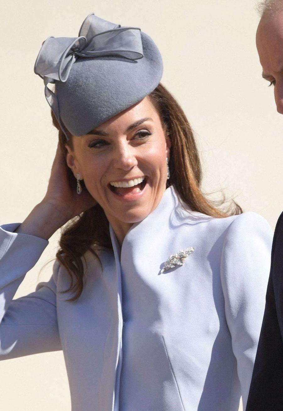 Kate Middletonà son arrivée à la chapelleSaint-Georges dimanche matin