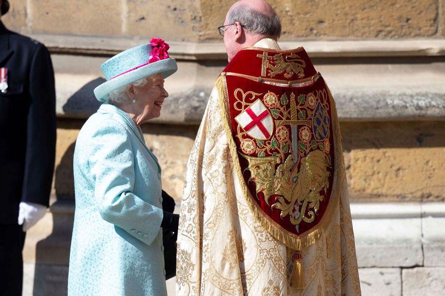 L'arrivée de la reine Elizabeth II à la chapelle Saint-Georges