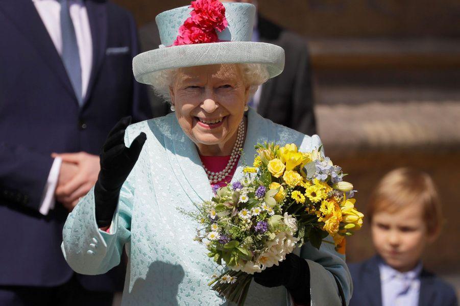 La reine Elizabeth II à la chapelle Saint-Georges