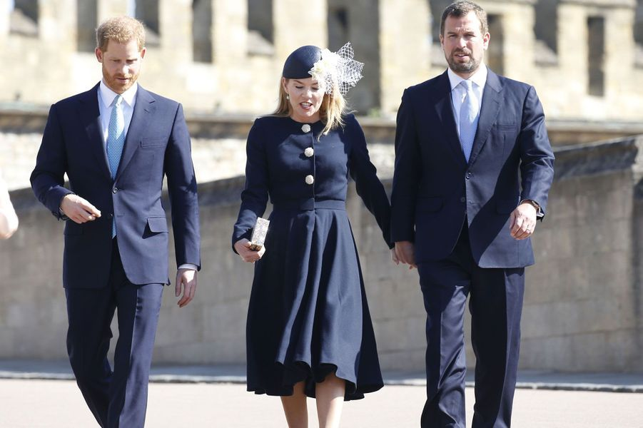 Le prince Harry en compagnie d'Autumn et Peter Philips