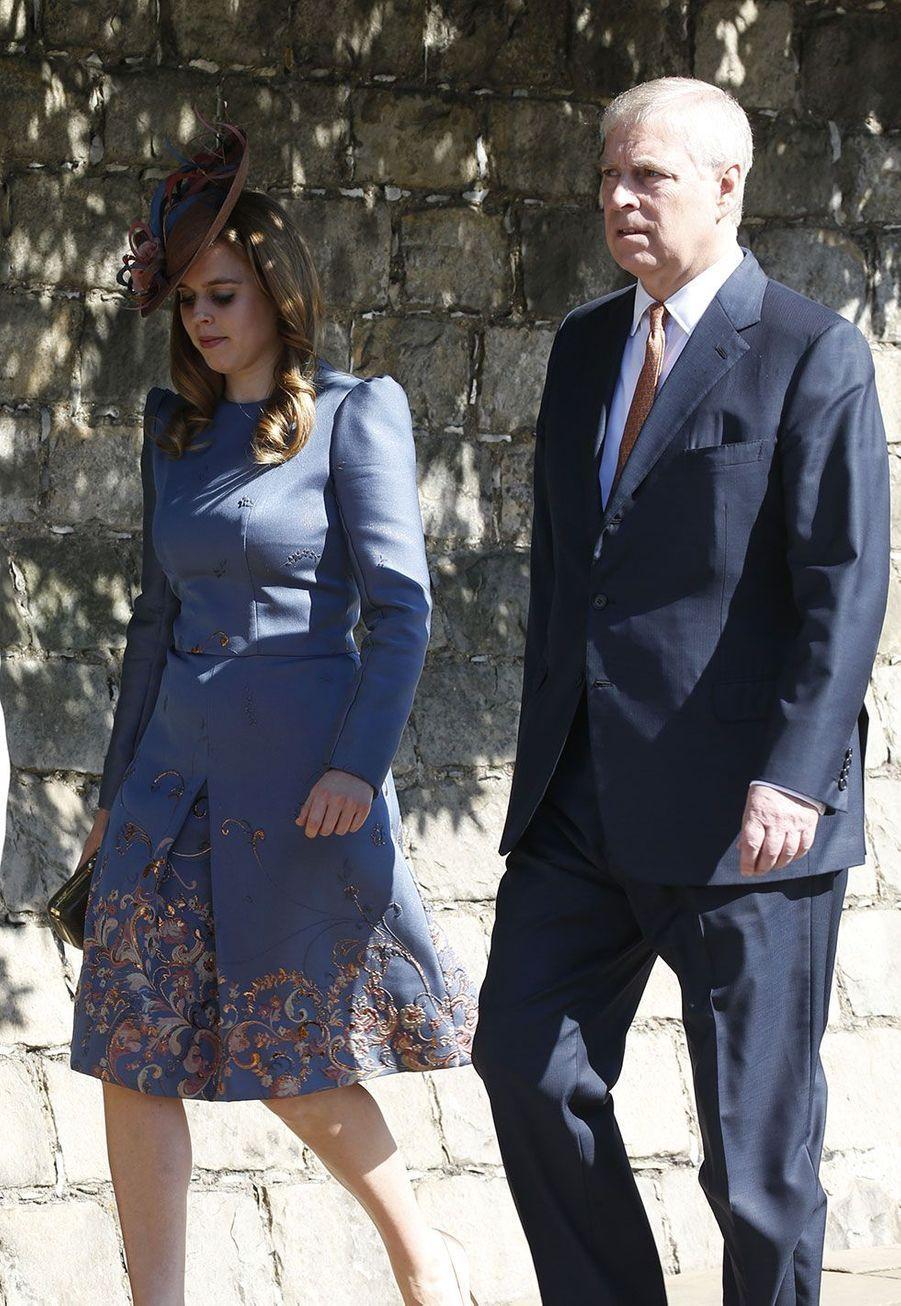 La princesse Beatrice et son père le prince Andrew