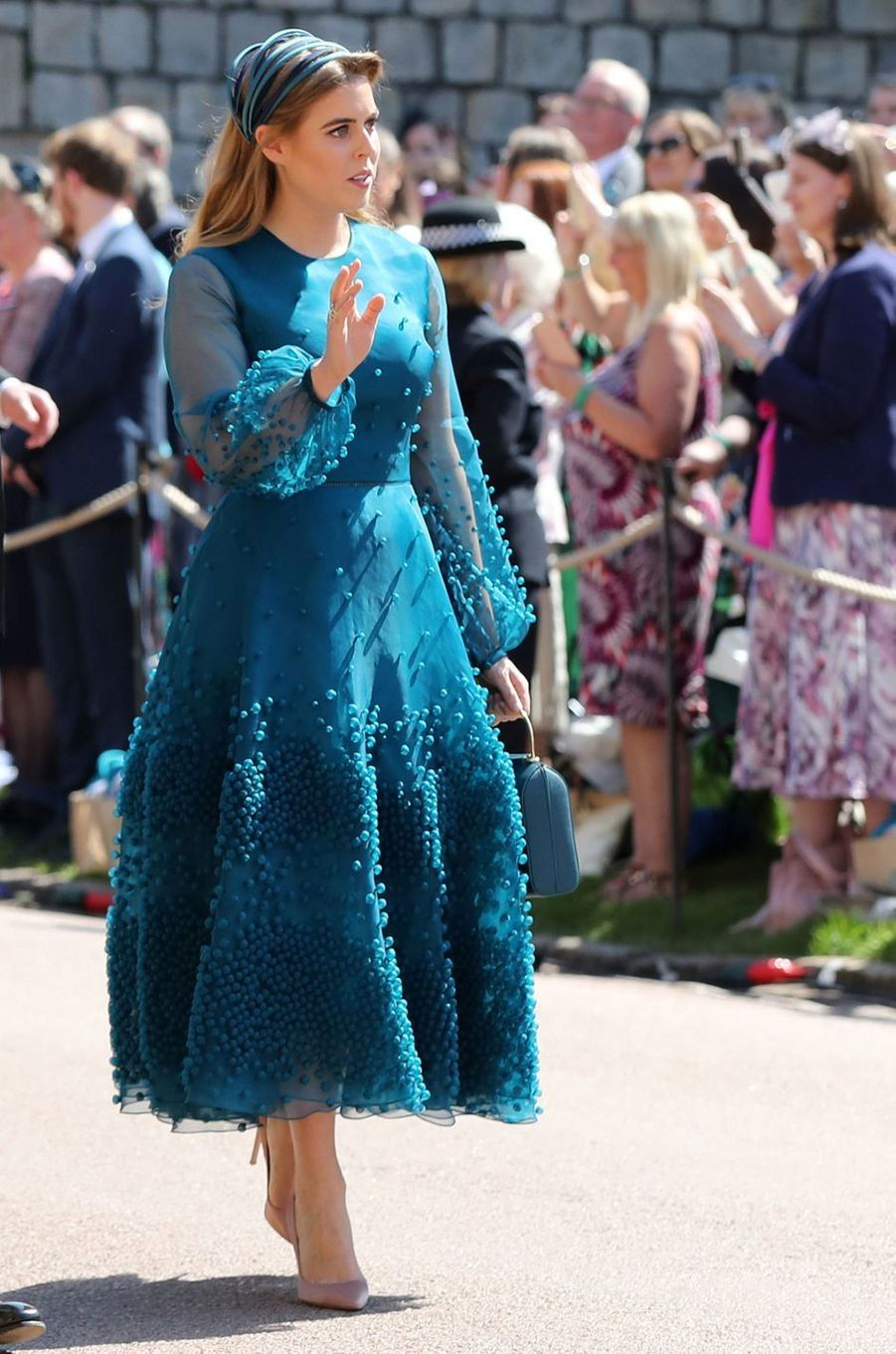 La princesse Beatrice d'York en Roksanda, le 19 mai 2018