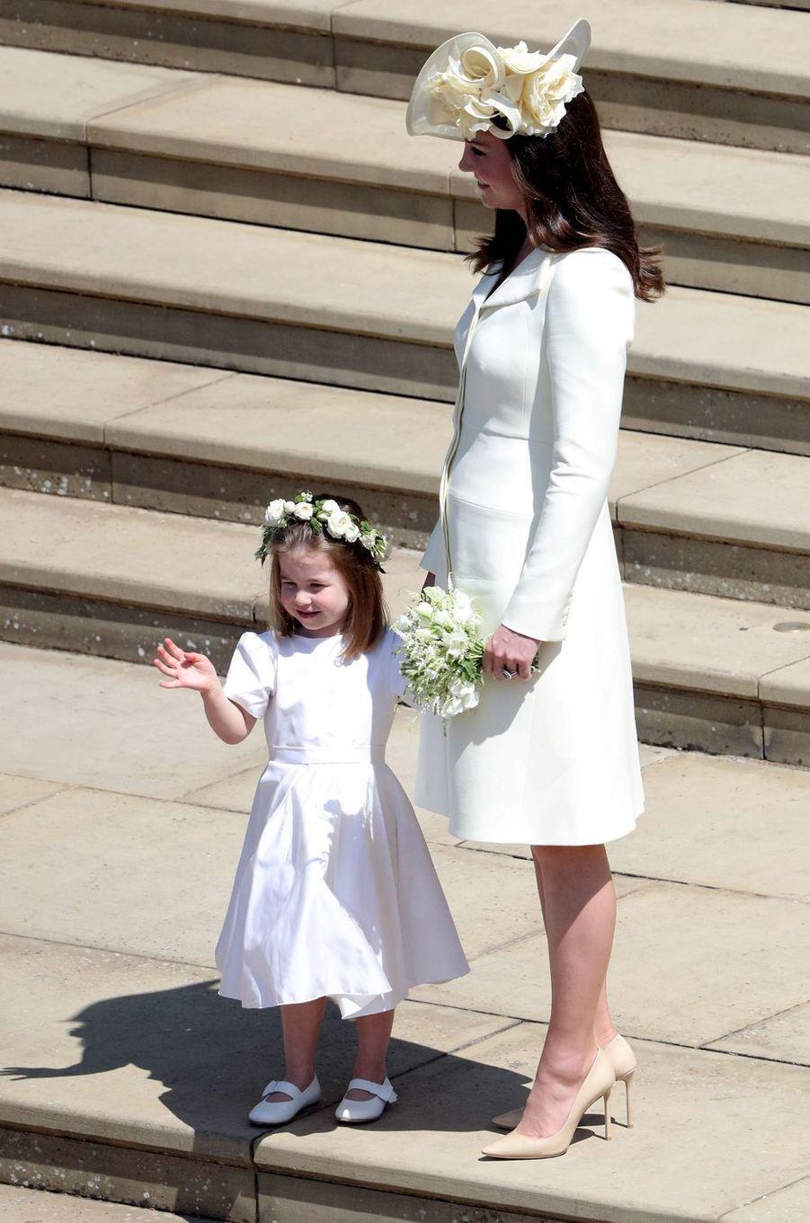 La duchesse Catherine de Cambridge et la princesse Charlotte, le 19 mai 2018