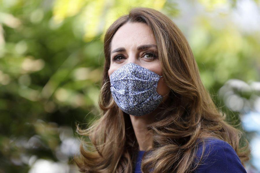 Kate Middleton en visite à l'Imperial London College le 14 octobre 2020