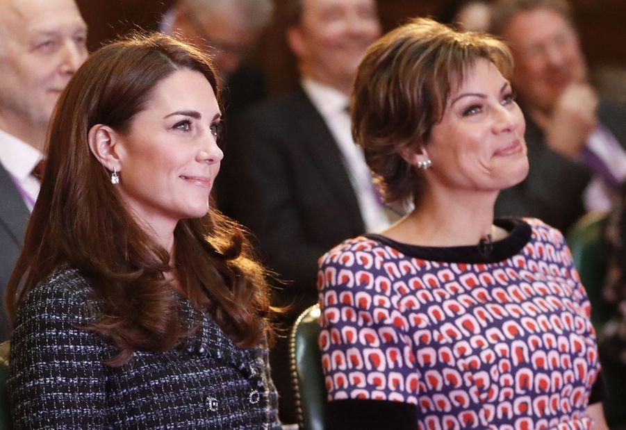 """Kate Middleton lors de la conférence """"Mental Health in education"""" à Londres le 13 février 2019."""