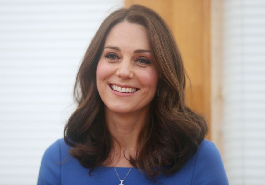 Kate Middleton enceinte de son troisième enfant, le 23 janvier 2018.