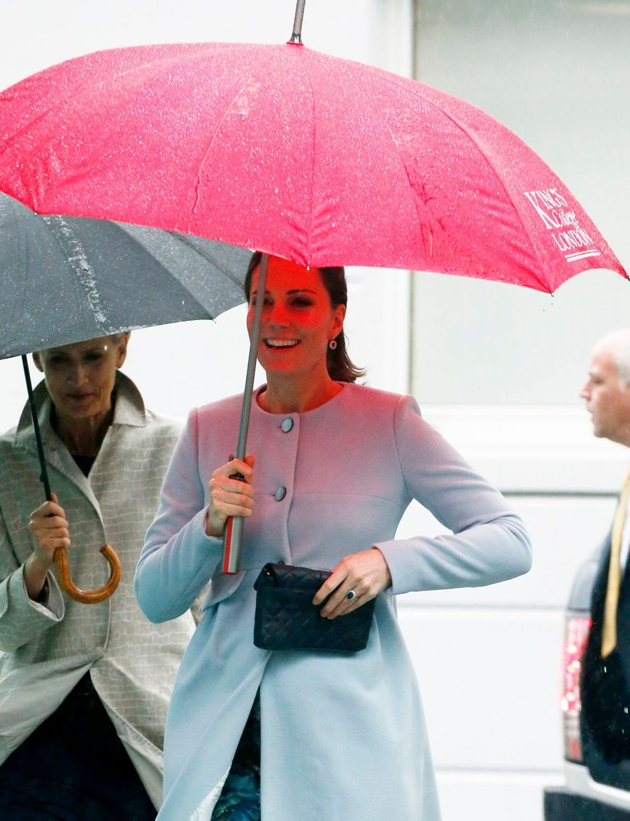 Kate Middleton enceinte de son troisième enfant, le 24 janvier 2018.