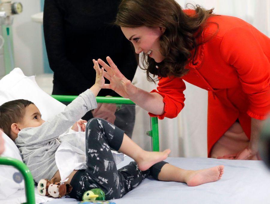 Kate Middleton enceinte de son troisième enfant, le 17 janvier 2018.