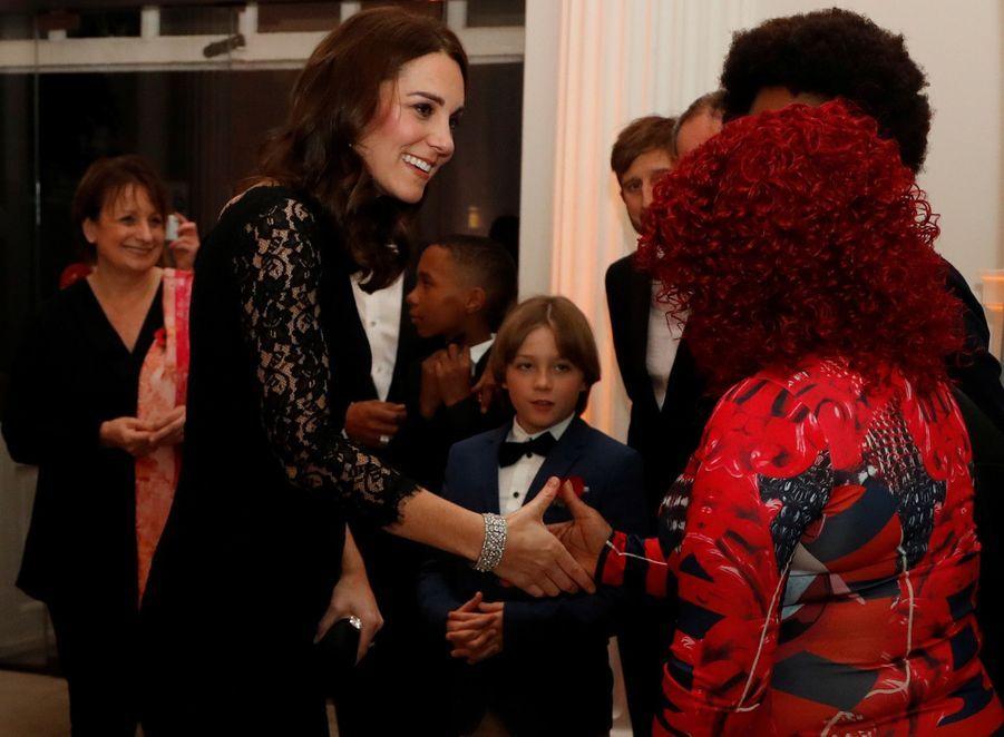 Kate Middleton enceinte de son troisième enfant, le 7 novembre 2017.