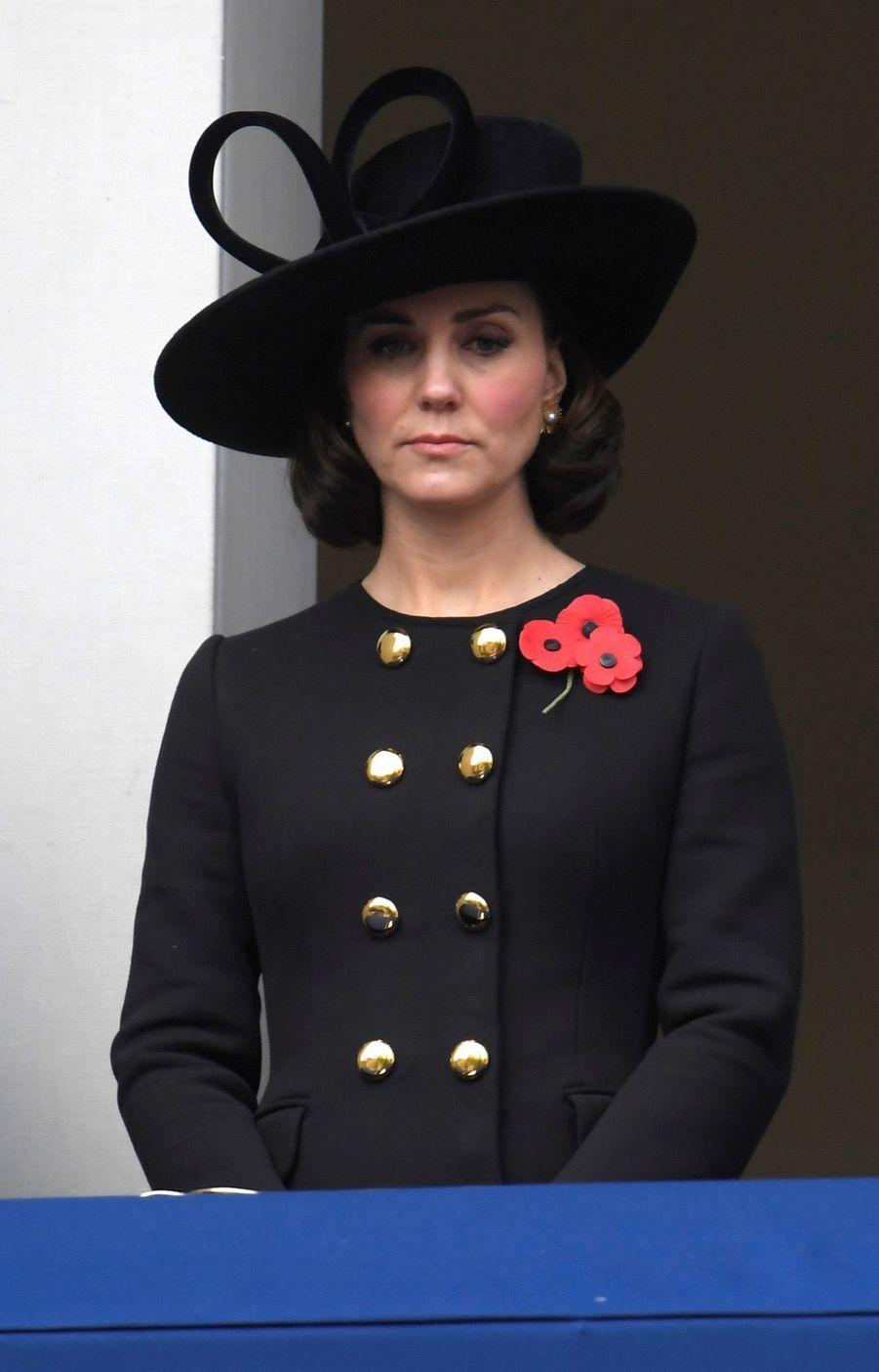Kate Middleton enceinte de son troisième enfant, le 12 novembre 2017.
