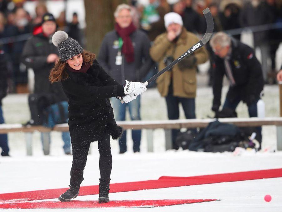 Kate Middleton enceinte de son troisième enfant, le 30 janvier 2018.