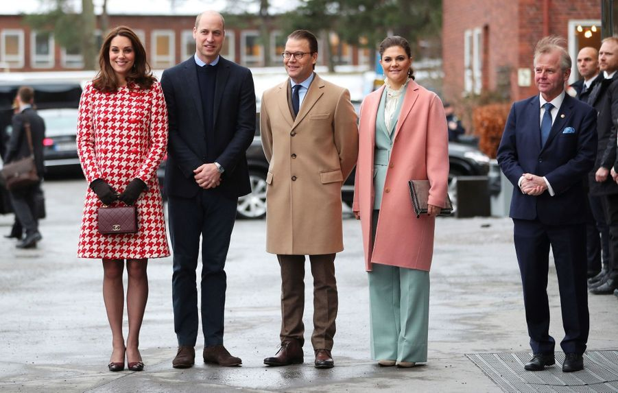 Kate Middleton enceinte de son troisième enfant, le 31 janvier 2018.