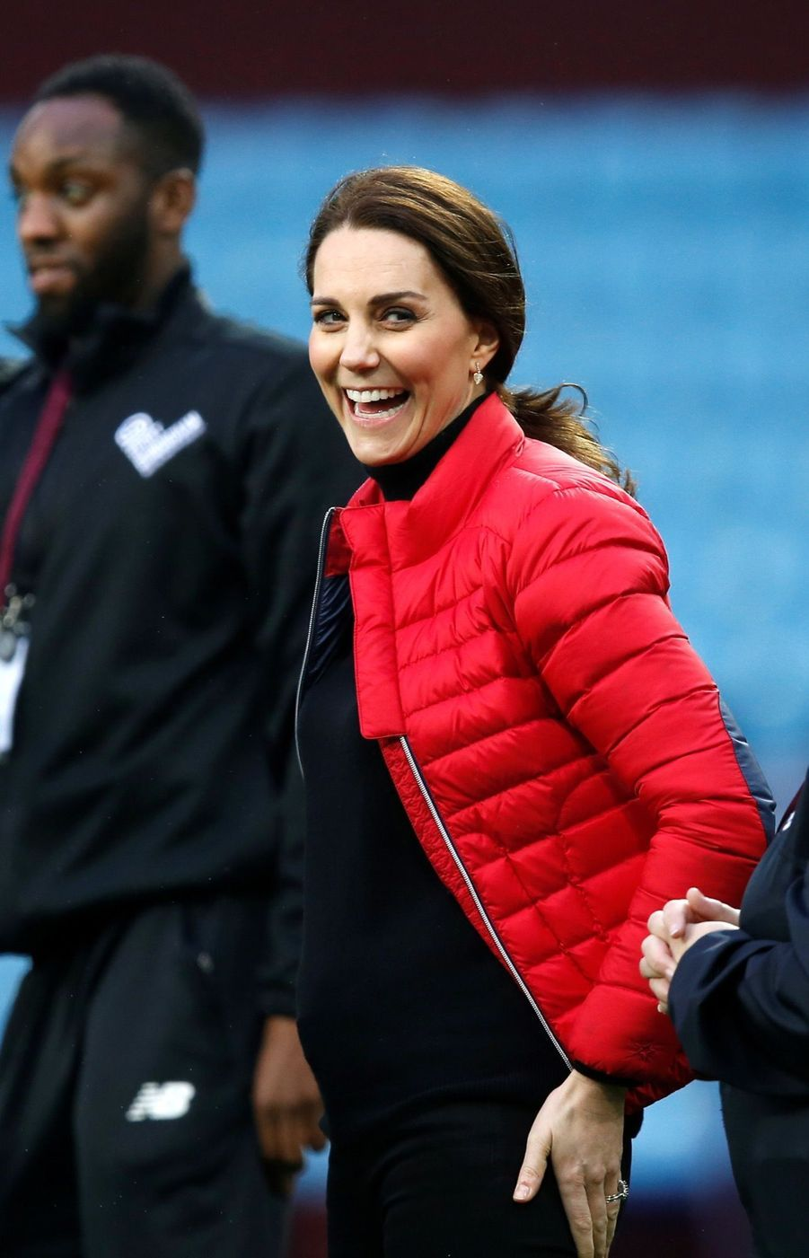 Kate Middleton enceinte de son troisième enfant, le 22 novembre 2017.