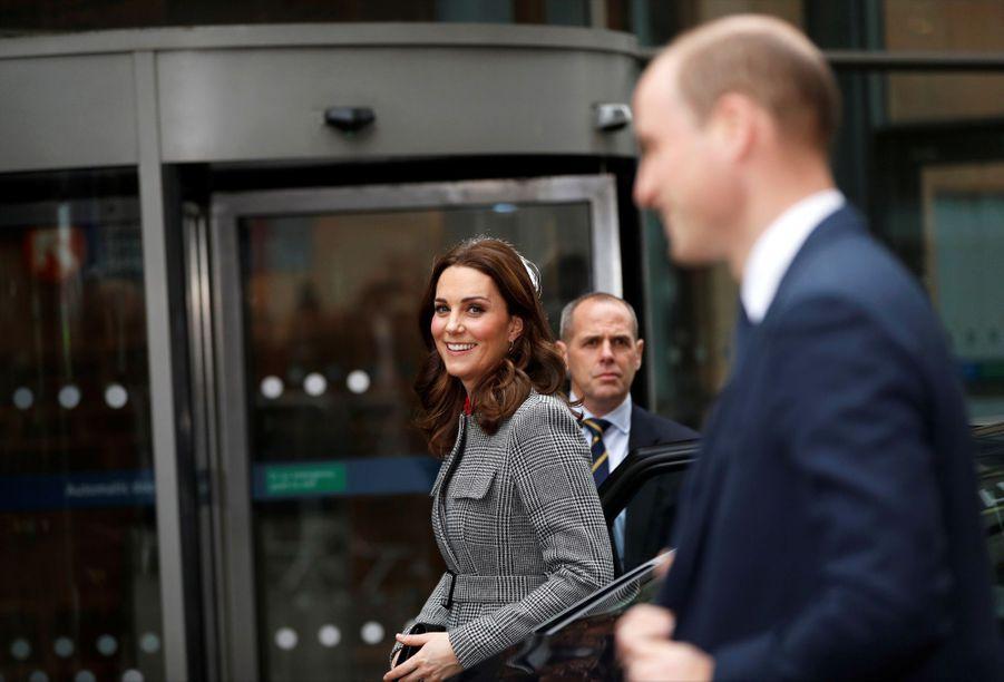 Kate Middleton enceinte de son troisième enfant, le 6 décembre 2017.