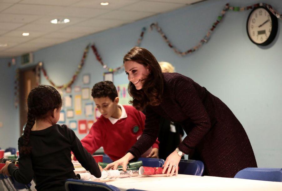 Kate Middleton enceinte de son troisième enfant, le 12 décembre 2017.
