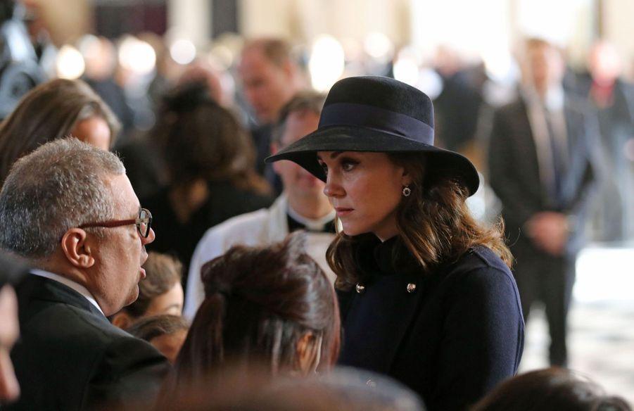 Kate Middleton enceinte de son troisième enfant, le 14 décembre 2017.
