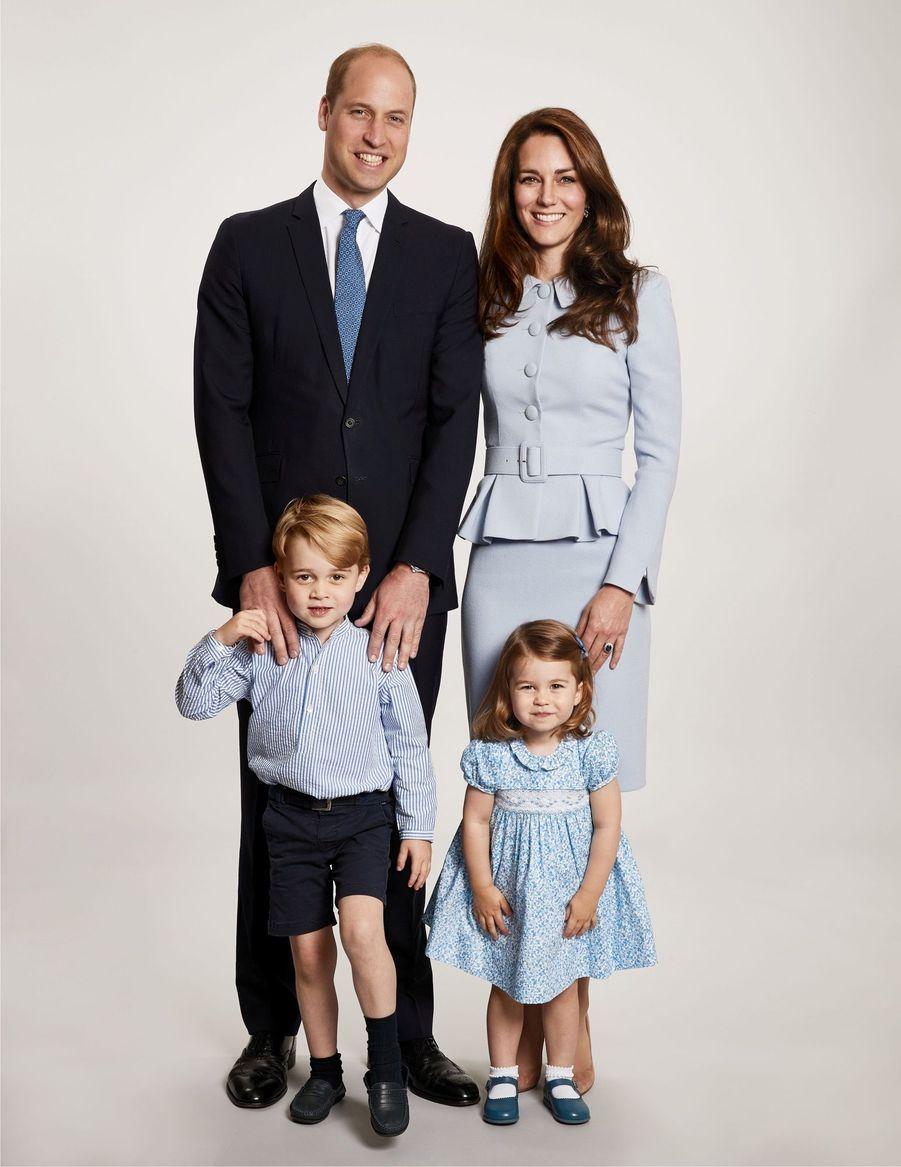 Kate Middleton enceinte de son troisième enfant, le 18 décembre 2017.