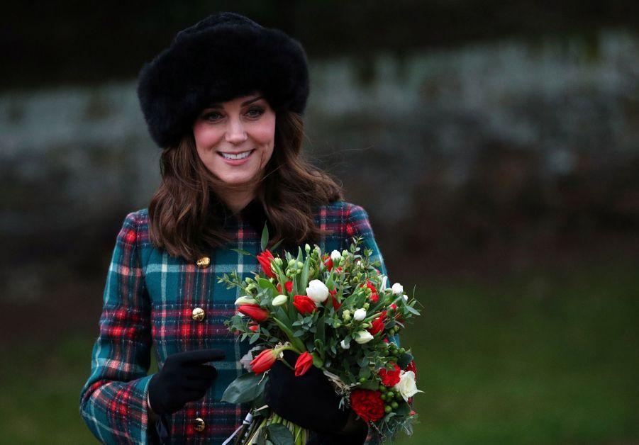 Kate Middleton enceinte de son troisième enfant, le 25 décembre 2017.