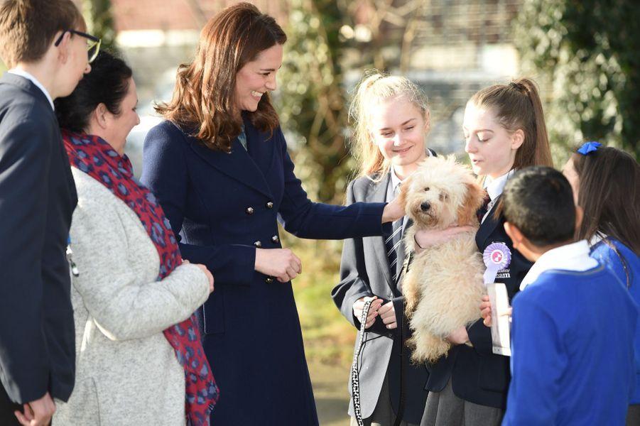 Kate Middleton enceinte de son troisième enfant, le 10 janvier 2018.