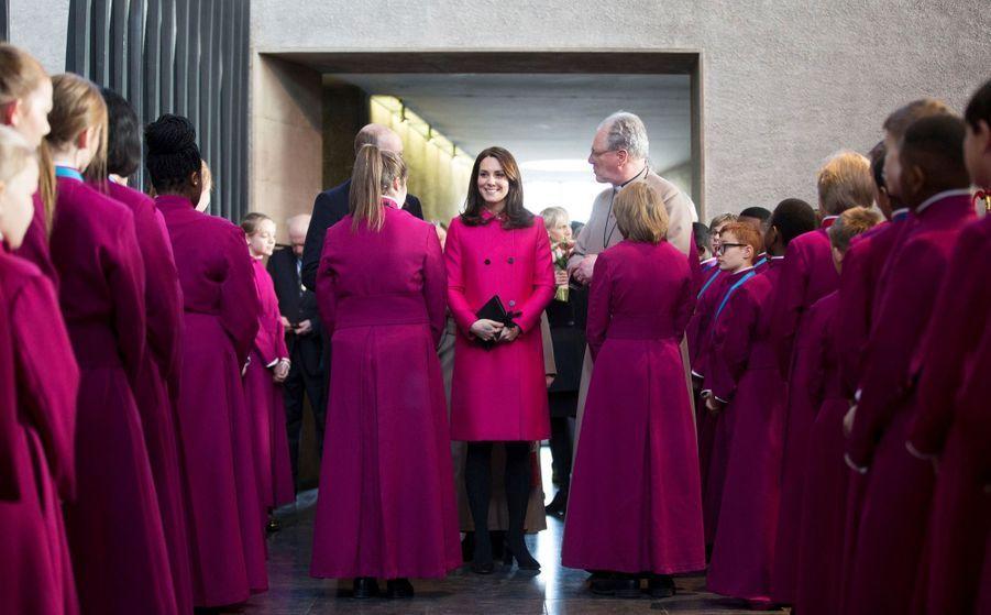Kate Middleton enceinte de son troisième enfant, le 16 janvier 2018.